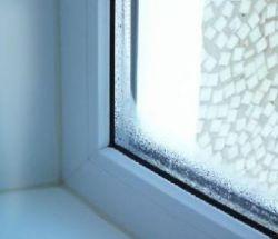окно промерзло